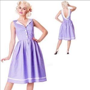 Hell Bunny Vixen Karen Pinup Rockabilly Dress